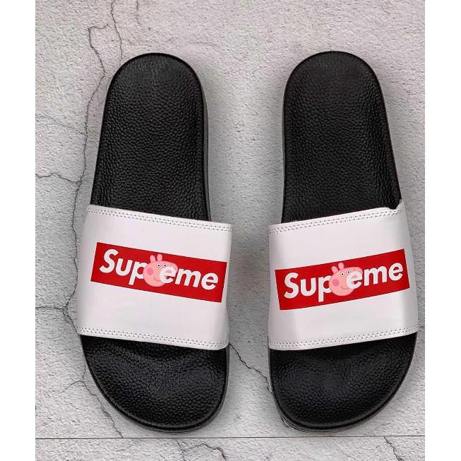Peppa Pig X Supreme Flip Flops Sandals Women Men Slippers | Shopee