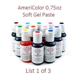 List (1of3) AmeriColor Soft Gel Paste 0.7oz