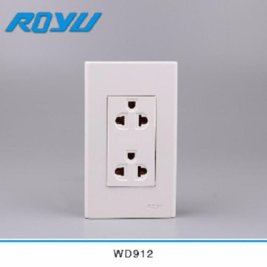 ROYU DUPLEX UNIVERSAL OUTLET W/ GROUND WD912