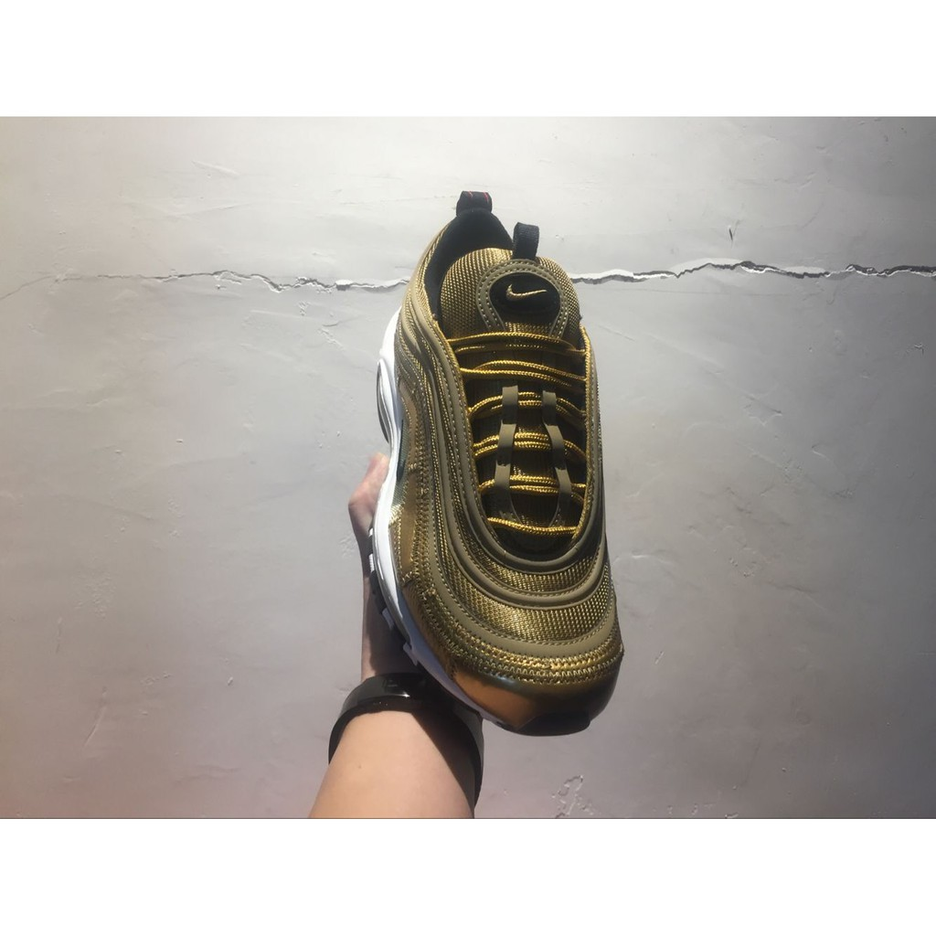 genuine shoes online here various colors NIKE Air Max 97 CR7 Cristiano Ronaldo gold mens low top sneaker ...
