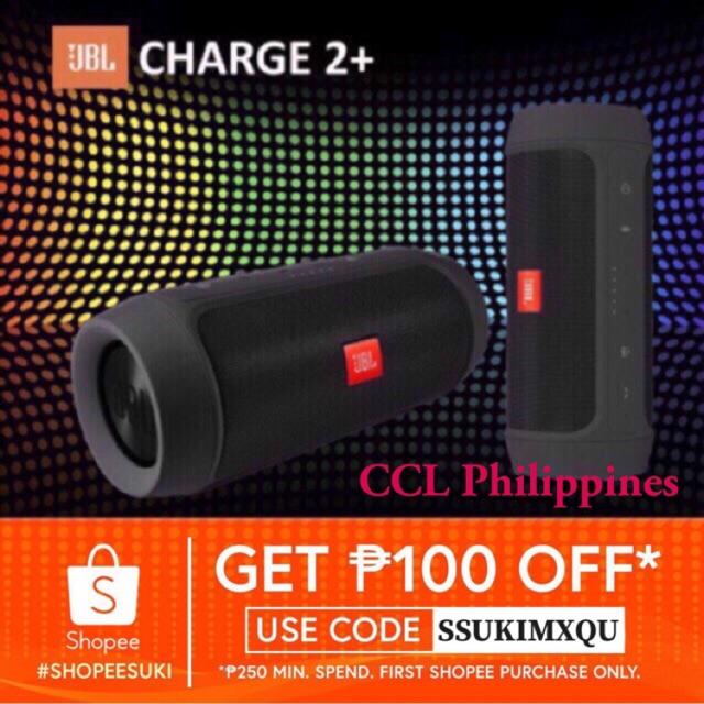 JBL Charge 2+ Bluetooth Speaker Wireless Portable w/ Built in Powerbank
