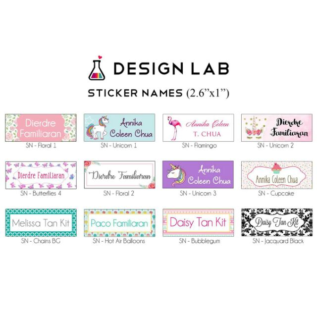 Address 260 label set handmade by Personalised sticky Labels Butterfly