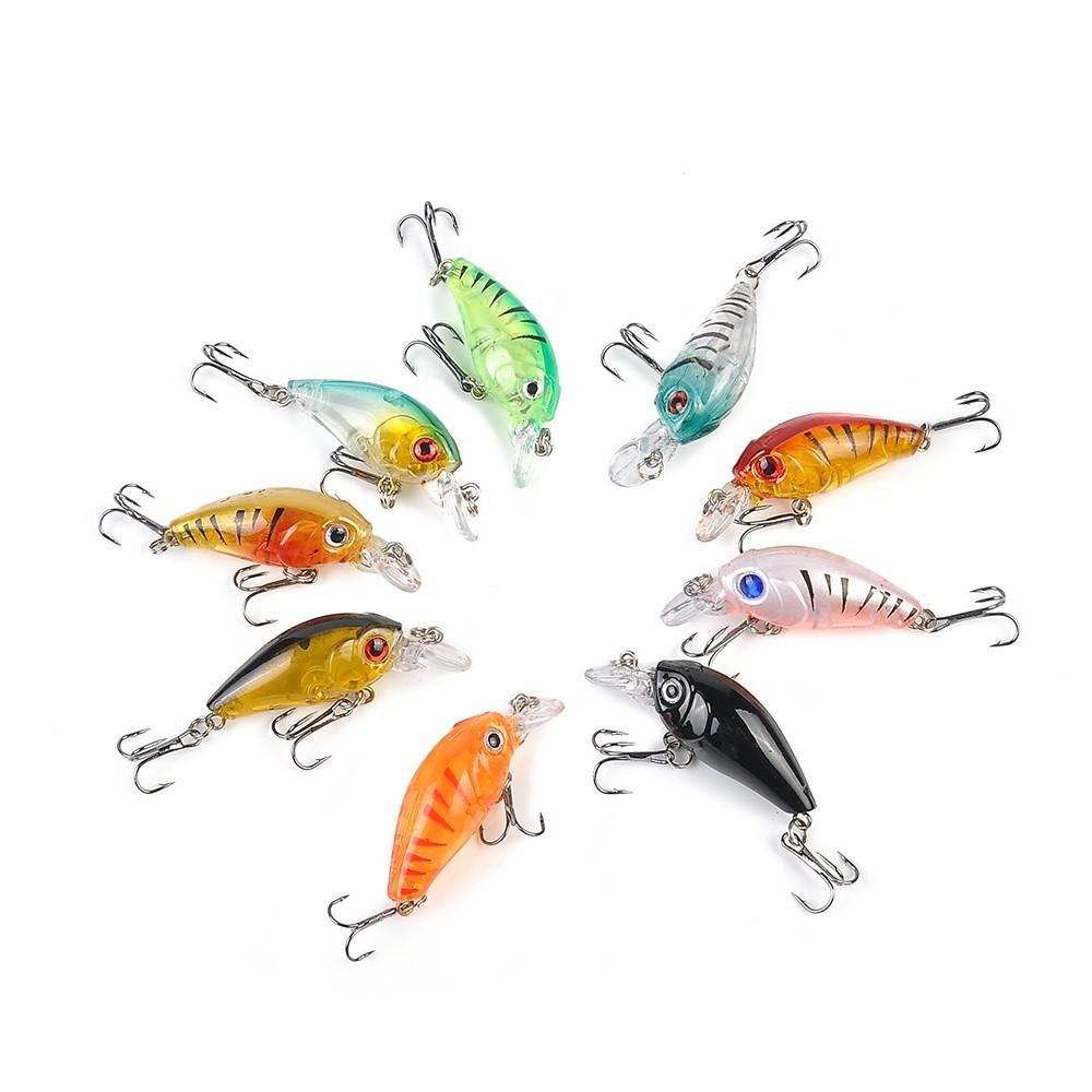 Lot 5Pcs Plastic Fishing Lures Bass CrankBait Crank Bait Tackle 4.5cm//4g