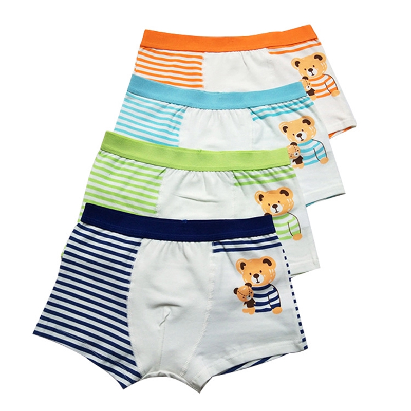 Kids Tales Training Pants Baby Boys Girls Bear Cartoon Print Shorts