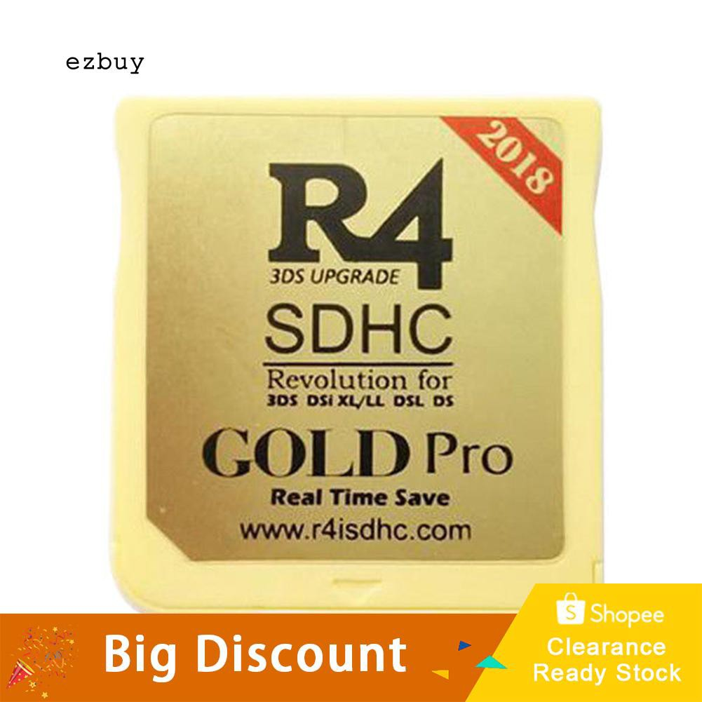 【Ready Stock】2018 Version New R4I SDHC Dual Core Gold Flash Card Adapter  for 3DS DSi XL DSL