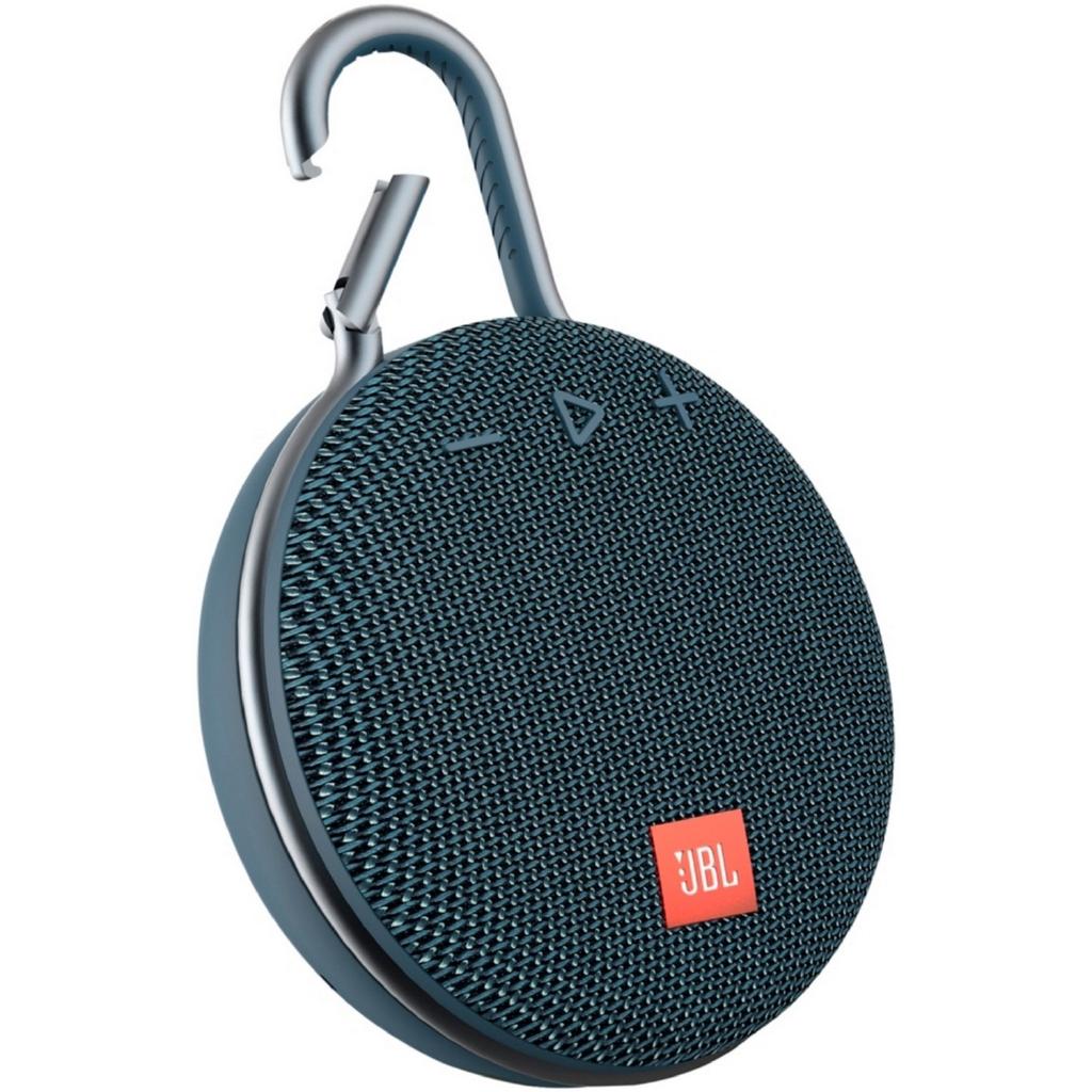 Black JBL Clip 3 Portable Waterproof Wireless Bluetooth Speaker