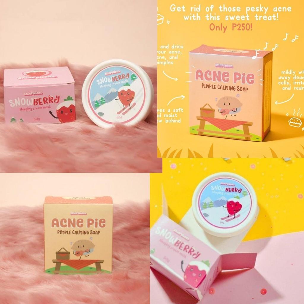 Snowberry Cream Mask Acne Pie Soap Shopee Philippines