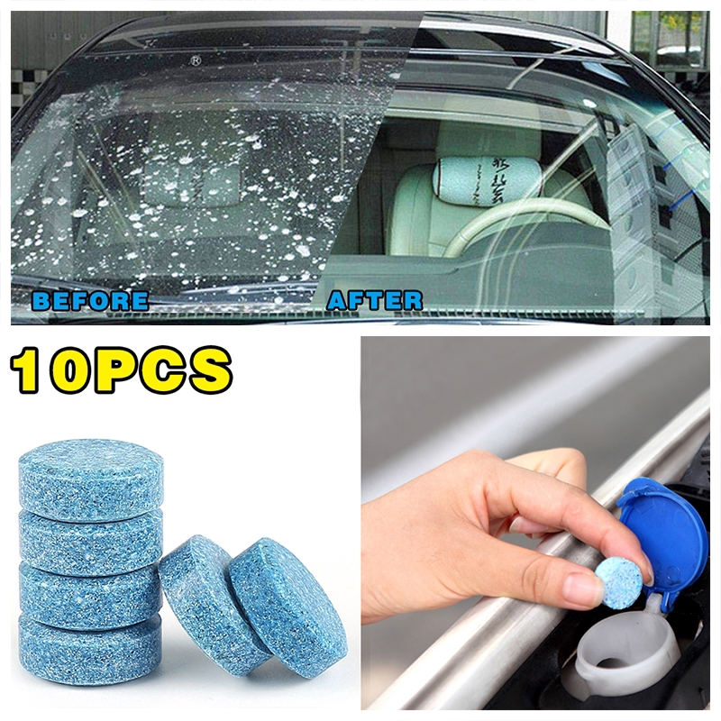 Blulu 60 Pieces Car Effervescent Washer Car Windshield Glass Concentrated Washer Tablets Cleaning Tablets Solid Wiper Glass Solid Washer Tablets