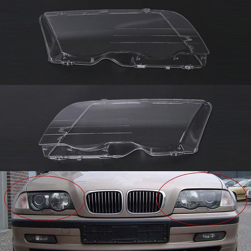 Left Headlight Headlamp Plastic Clear Lens Cover For BMW E46 3 Series 1998-2001