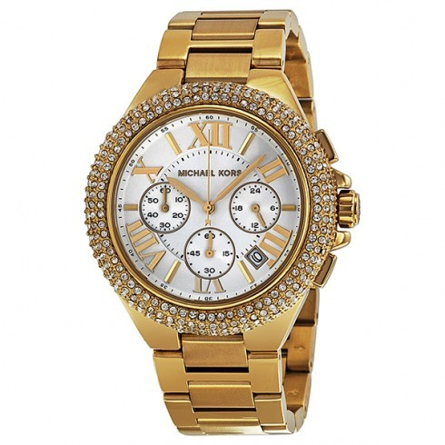 0a46fa3e3de7 MICHAEL KORS Runway Twist Chronograph Gold-tone Ladies Watch MK3131 ...