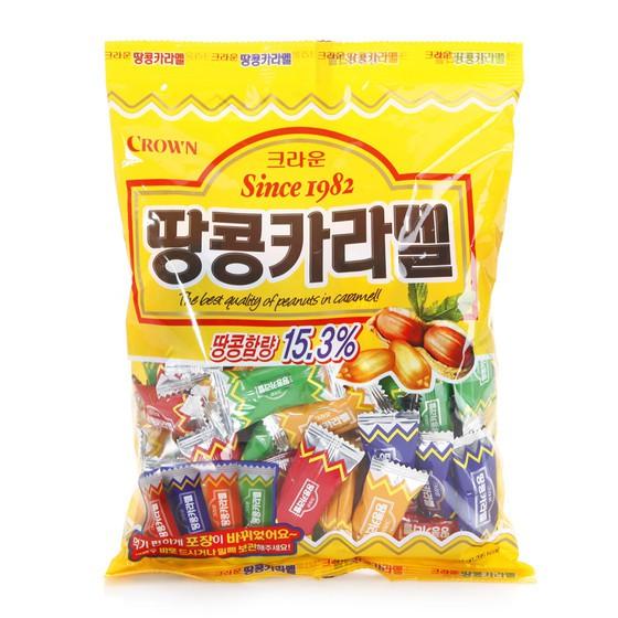 Crown Korea Sweet Taste Peanut Caramel Chewing Candy 120g | Shopee ...