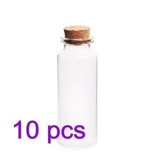 050259fcc185 50ML Glass Bottles Wishing Bottle Storage Jars-Transparent | Shopee ...