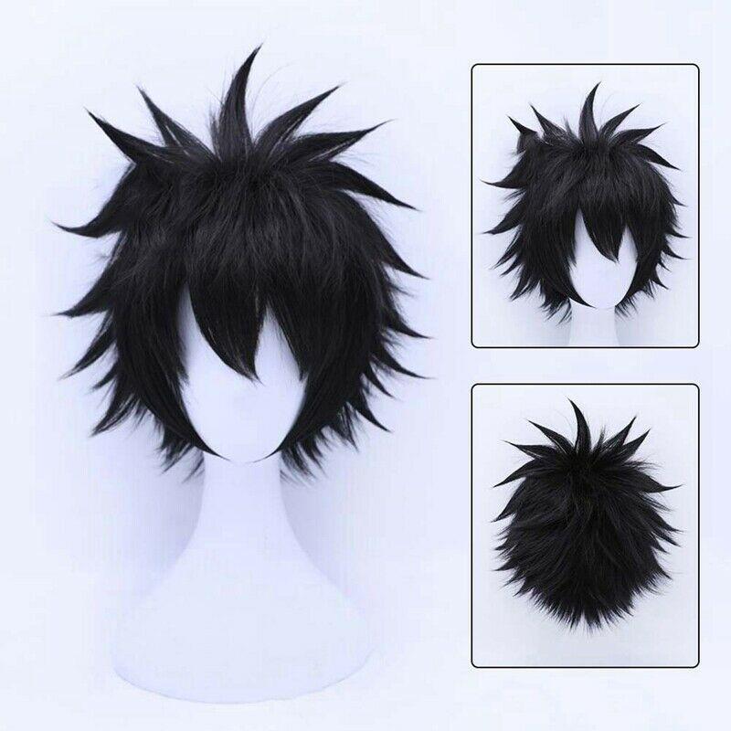 My Hero Academia Dabi Cosplay Hair Black Short Headwear Wig