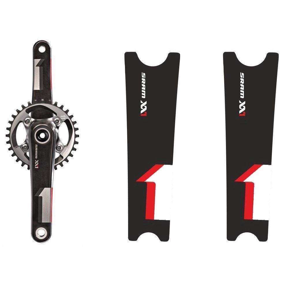 Crank Set Sticker Decal MTB SRAM X0 Mountain Bike Bicycle Adhesive 4 Pcs Orange