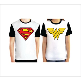 c4db51c86d Superman and Wonder woman couple's shirt (P698)