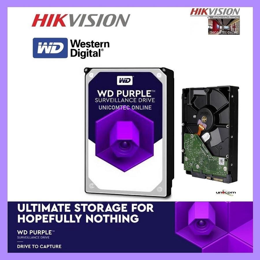 Western Digital 2TB Surveillance Drive Hikvision Logo (WD20PURX-78)