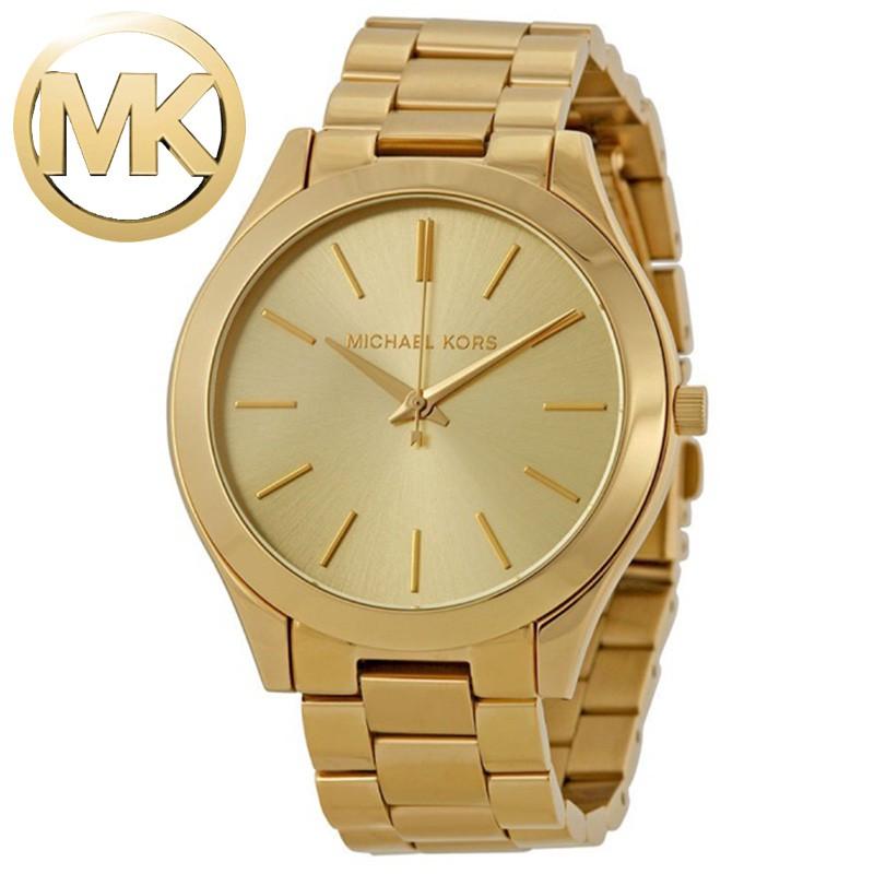 539e361291db MICHAEL KORS Runway Oversized Gold Stainless watch MK8077