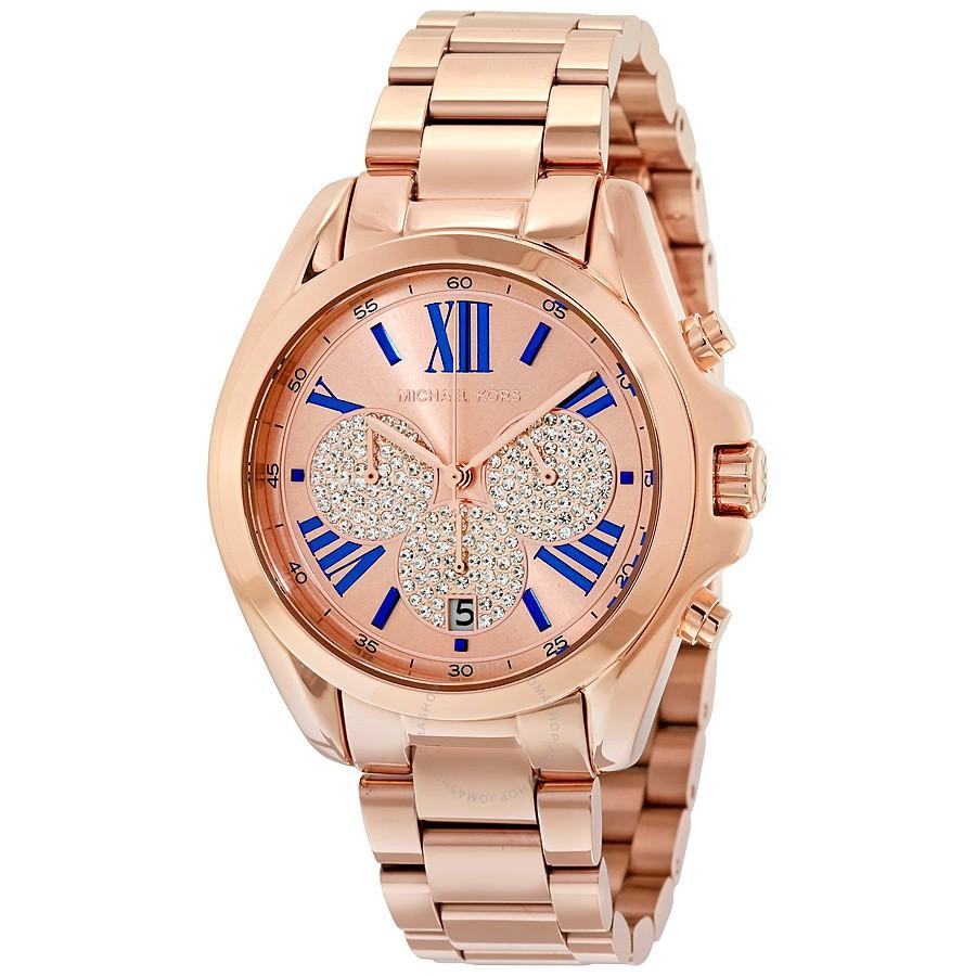 23ebc5a37a06 MICHAEL KORS MK6268 Bradshaw Blue Dial Chronograph Watch