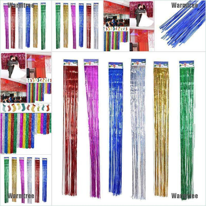 Foil Party Door Curtain Tinsel Shimmer Birthday Wedding Decorations Supplies