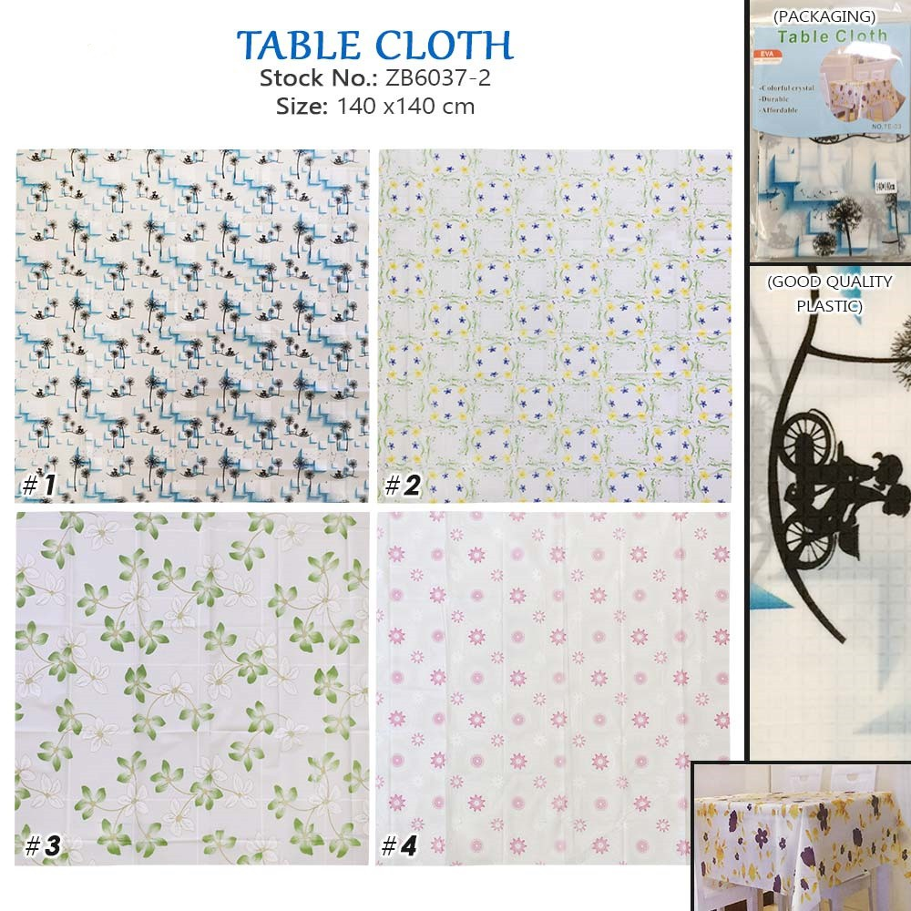 225 & Plastic Table Cloth For Square Table (ZB6037-2)