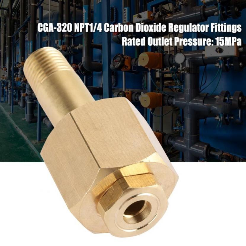 CGA 320 CO2 Carbon Dioxide Regulator Inlet Nut /& Nipple with Washer