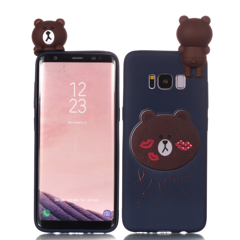 new product 1c503 f002b Samsung Galaxy S8 S8 Plus Case Cartoon Rubber Cover Animals