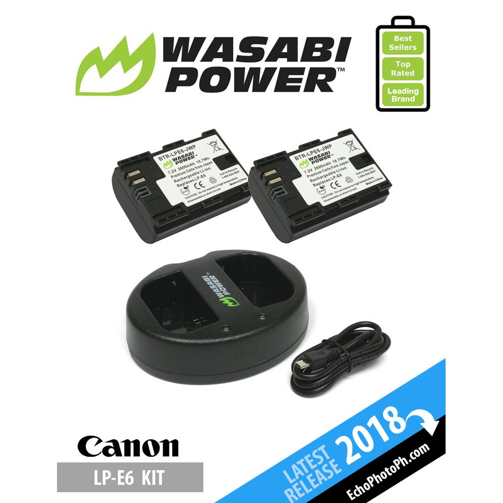 Wasabi Power Lpe6 Battery Kit Shopee Philippines 2 Pack And Charger For Sony Np Fw50