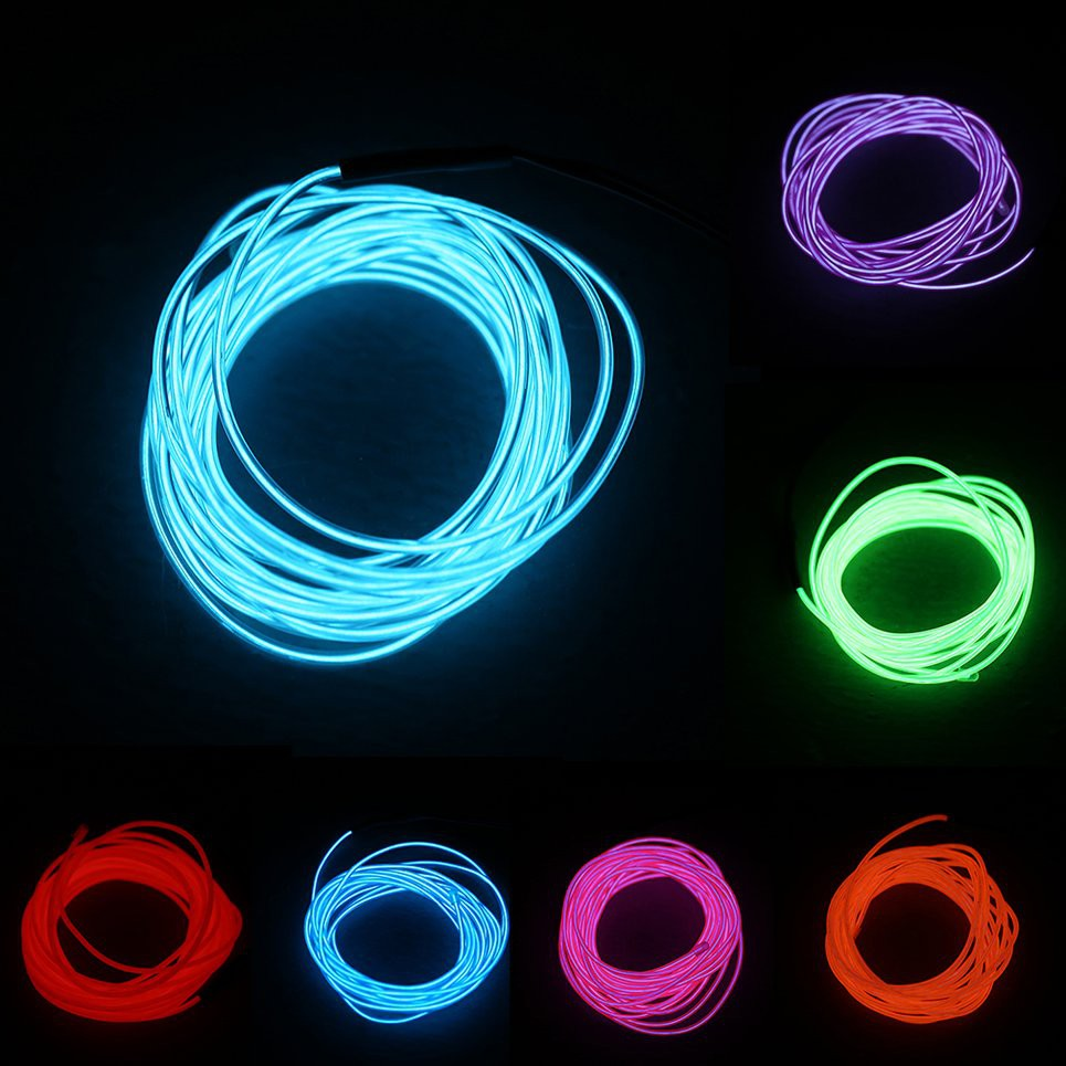1m colorful flexible el wire tube rope neon light shopee philippines