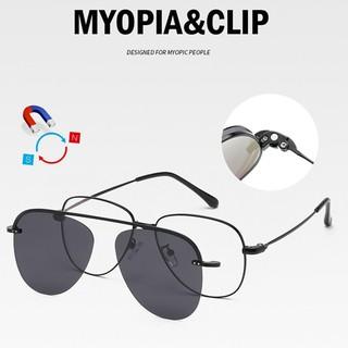 Gradient magnétique lentilles UV 400 Polarized Clip On Night Vision Driving Glasses