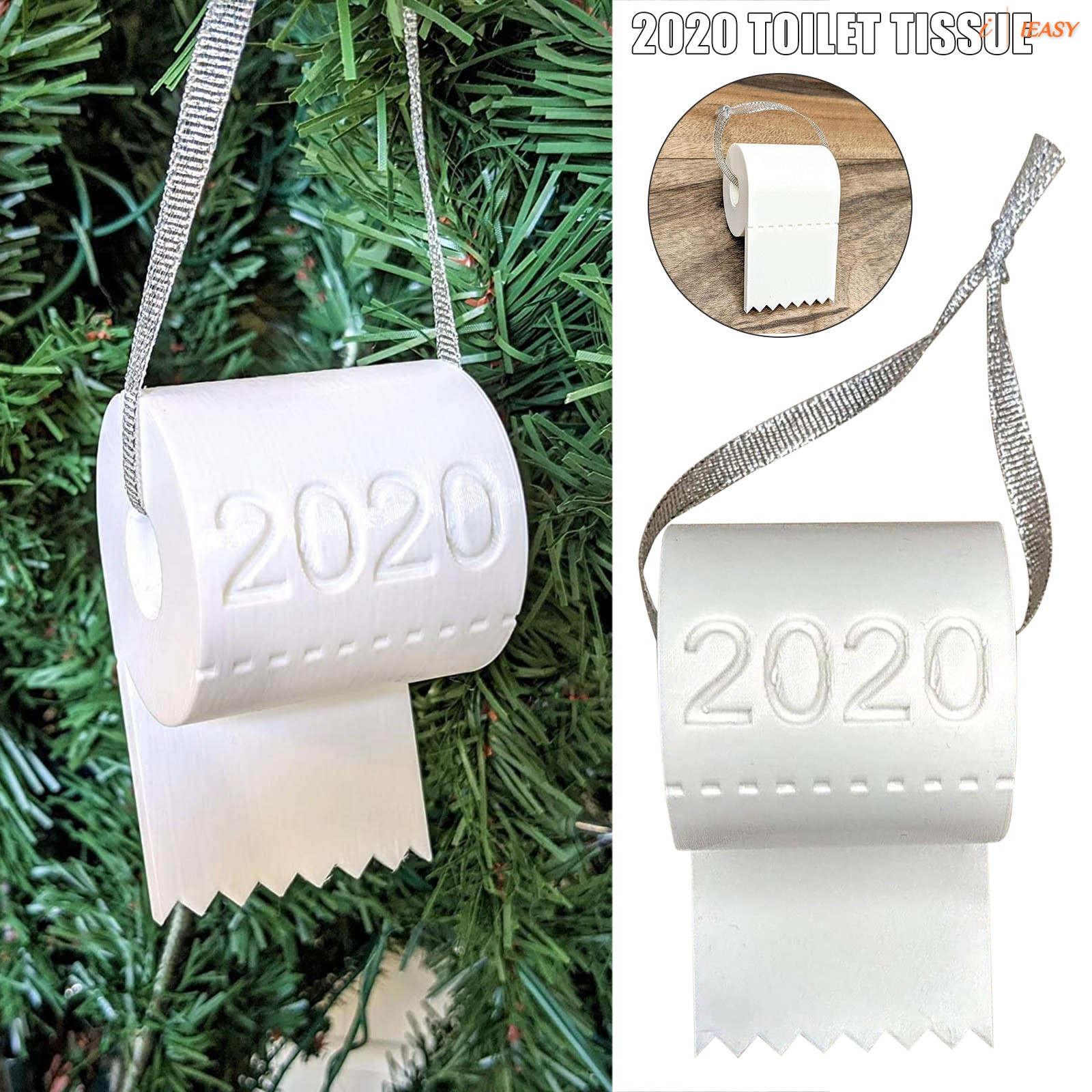 2020 Christmas Ornament Toilet Paper Simulation Fun Christmas Tree Hanging Decoration Shopee Philippines