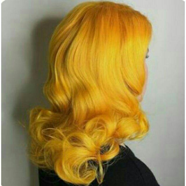 Light Golden Yellow Hair Color
