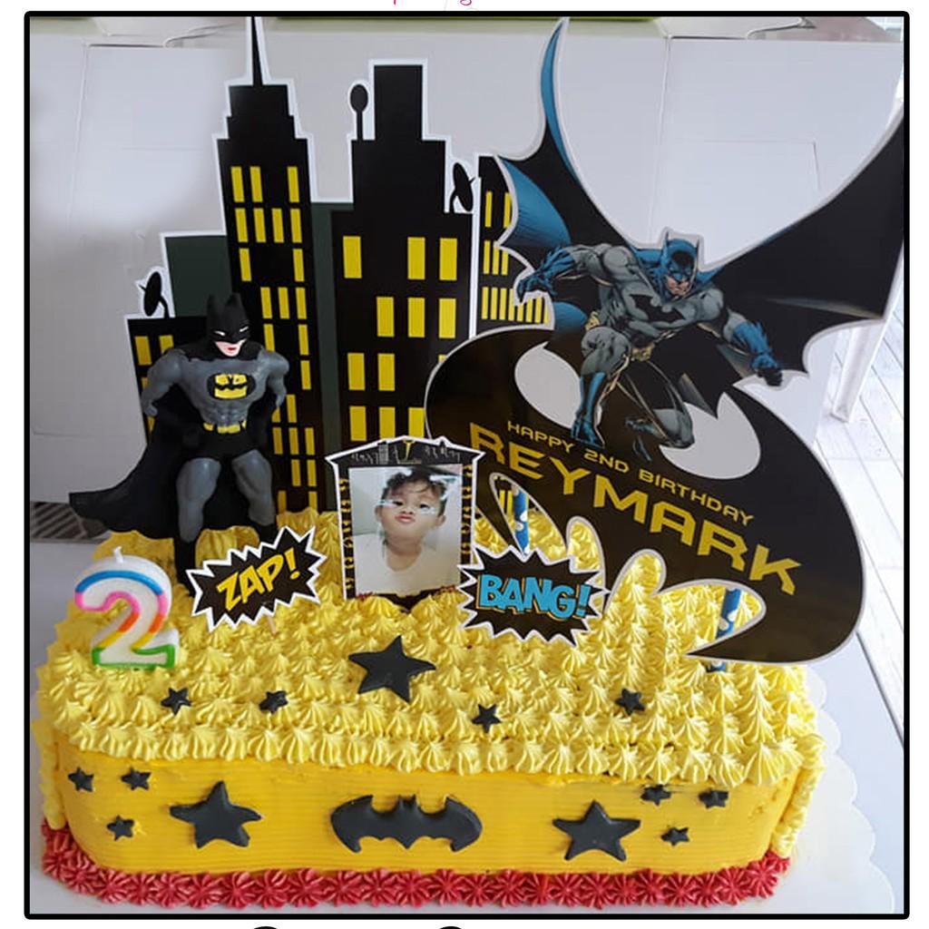 Pleasing Batman Customized Photo Cake Topper Cod Shopee Philippines Personalised Birthday Cards Paralily Jamesorg