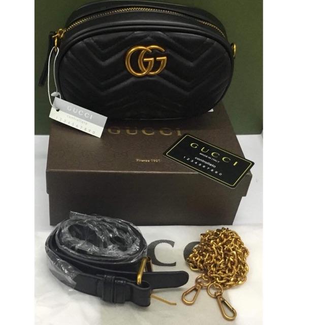 e705c0704557c6 Gucci Belt Bag 🌋Premium Coco Capitan Logo 2 Variants | Shopee Philippines