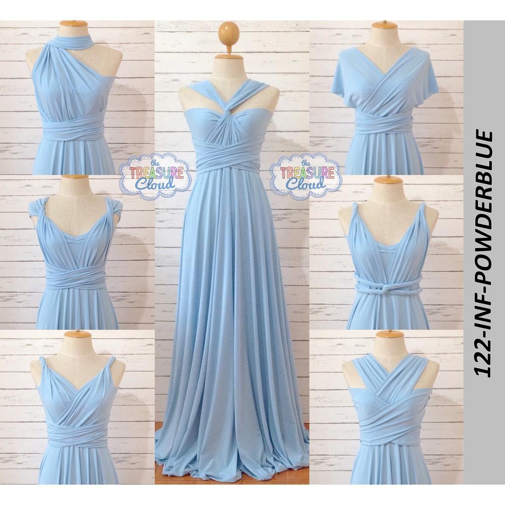 MIDNIGHT BLUE) Infinity Dresses / Bridesmaid Dresses   Shopee ...