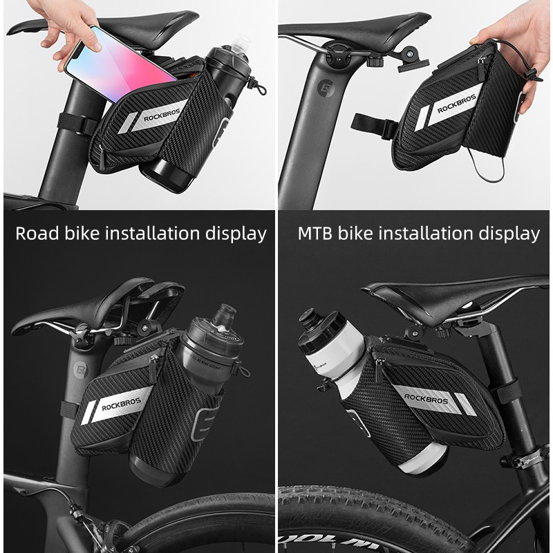ROCKBROS 1.5L Bicycle Bag Water Repellent Durable Reflective MTB Road Bike  With Water Bottle Pocket Bike Bag Accessories | Shopee Philippines