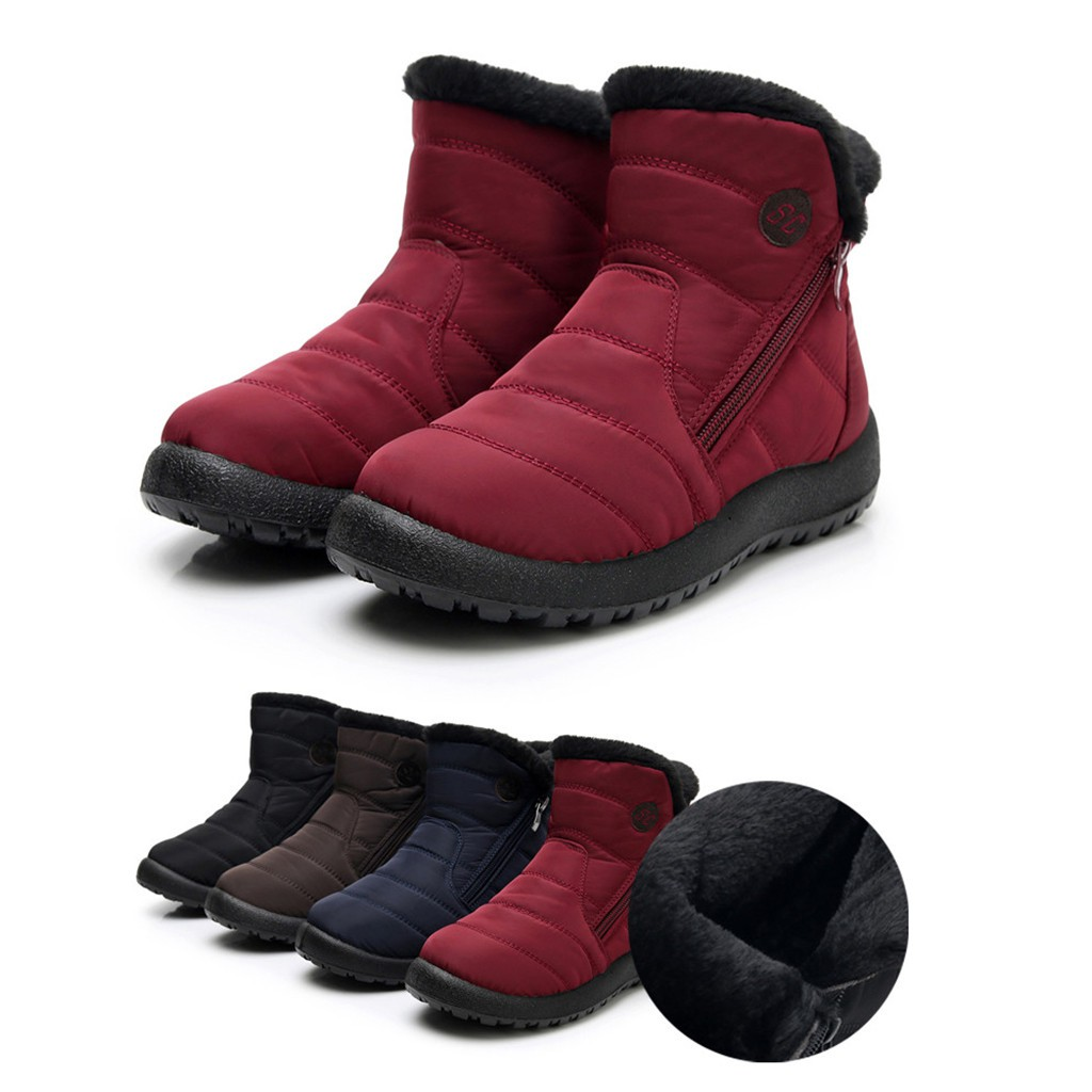 Womens/Snow/Boots/Winter/Ankle Short/Bootie/Waterproof/Footwear/Warm Shoes