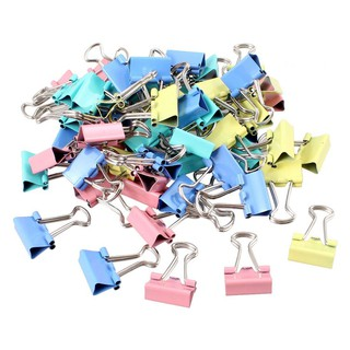50 Pcs Silver Tone Round Handle Paper Clips Office Stationery Clamps