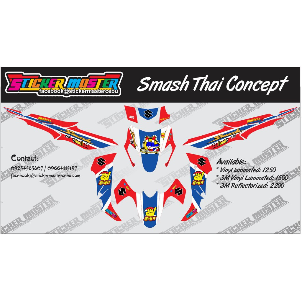 Smash decals thai concept shopee philippines