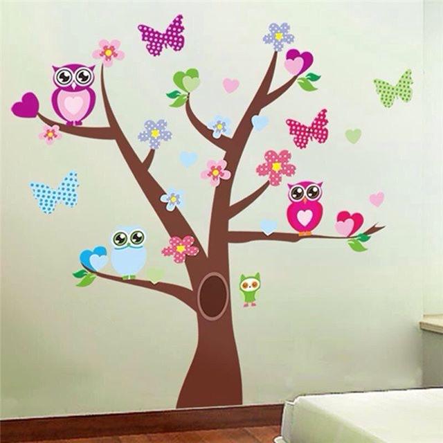 Wall Decal Nursery Room Tree Owl