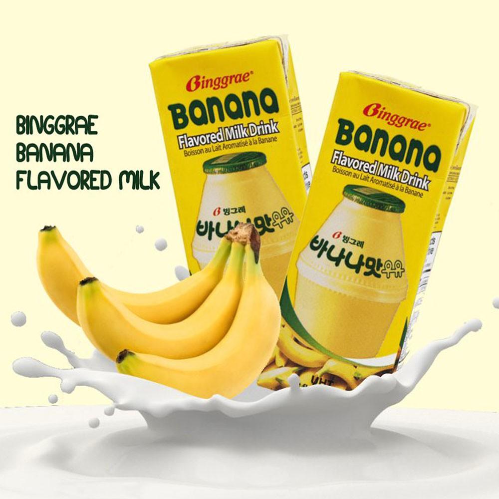 Binggrae Korean Banana Flavored Milk 200ml, 6 Packs | Shopee ...