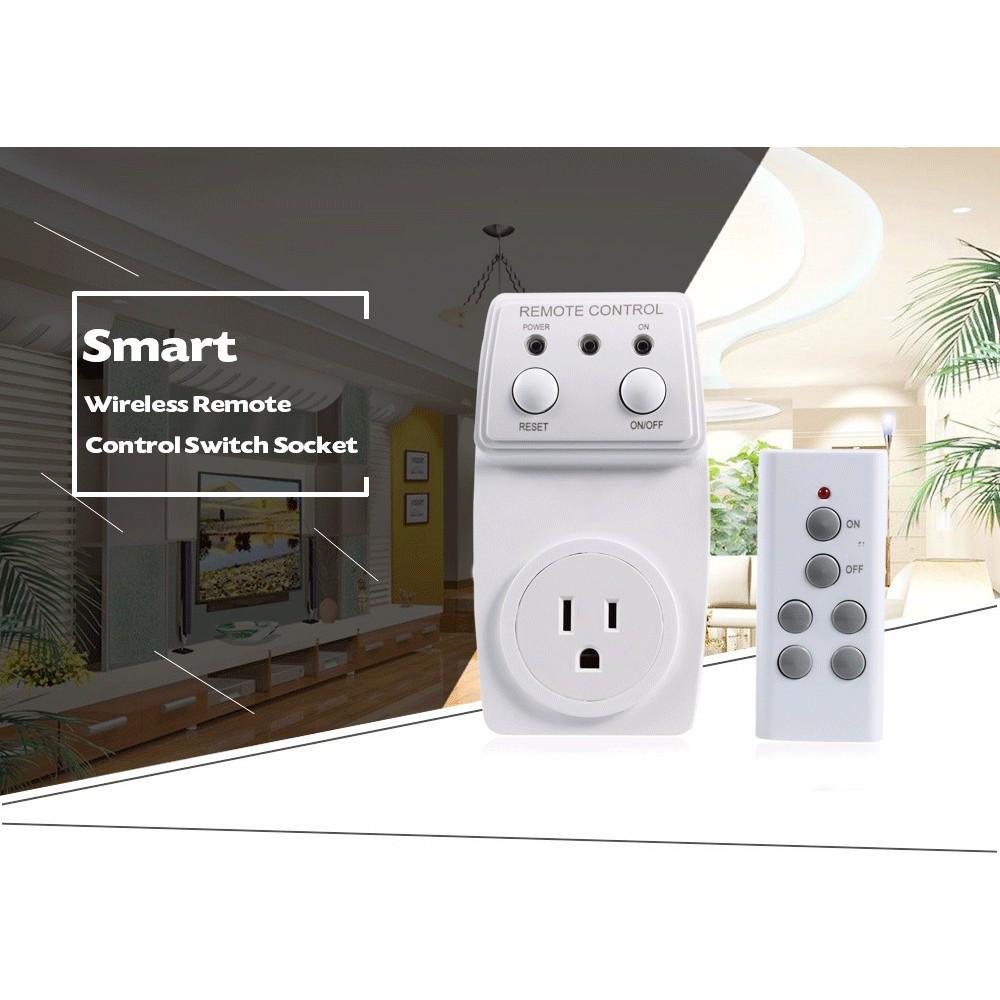 Smart Wireless Remote Control Switch Socket EU Plug