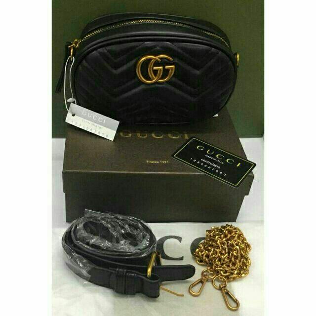 eb73d6bc4 Gucci 2 way sling bag or belt bag | Shopee Philippines