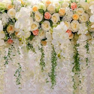 Fabric  Backdrop Floral Wood Floor Flower  Photography  Background amazing Washable material portable  Photo Prop Seniors kids wedding,