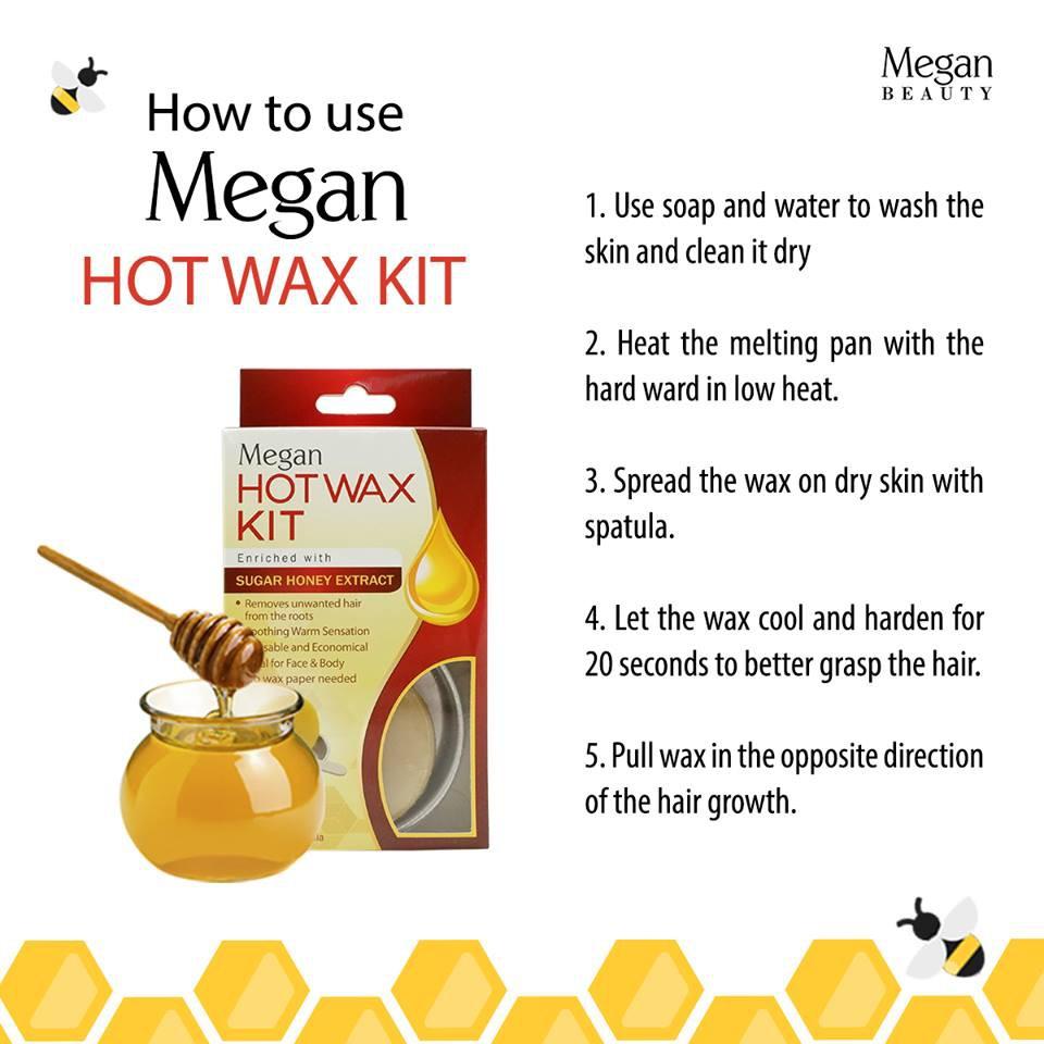 Megan Sugar Honey Hot Wax Kit (2 packs)   Shopee Philippines