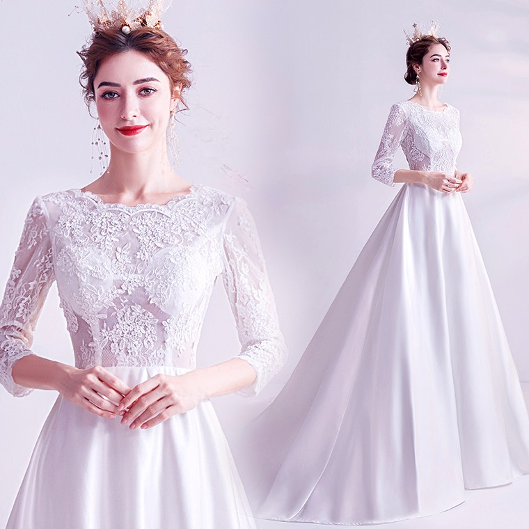 P C Angel Wedding Dress Charm Queen Elegant Lace Bridal Winter Dress Shopee Philippines,Wedding Guest Dresses For Chubby Ladies