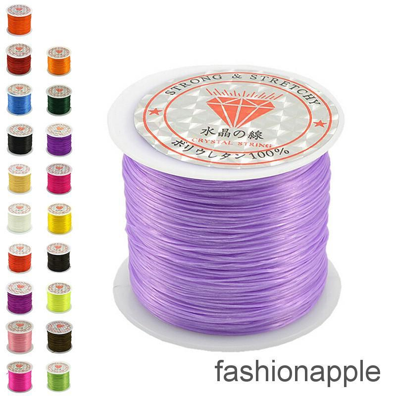 New 10Roll Mixed Color Strong Stretch Elastic Beading String Cord Wire Craft DIY