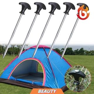 Black Camping Strong Stake Nail Peg Nails Trip Tent Peg Stakes Screw