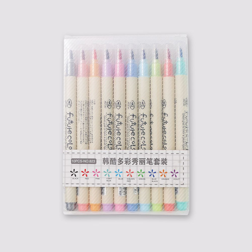 3993 10 Colors Paint  Pen Album Supplies Stationery School Marker Pen Gifts DIY