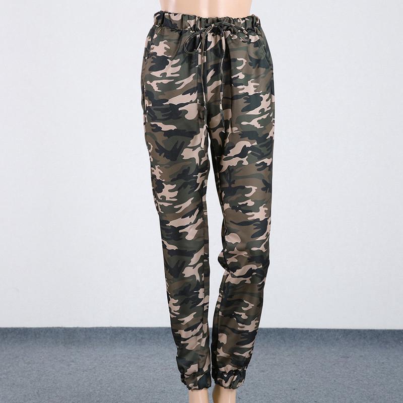 Outlet zu verkaufen ein paar Tage entfernt beste Qualität Frauen Army Military Camo Cargo Pants Tarnung im Freien beil?ufige lange  Hose