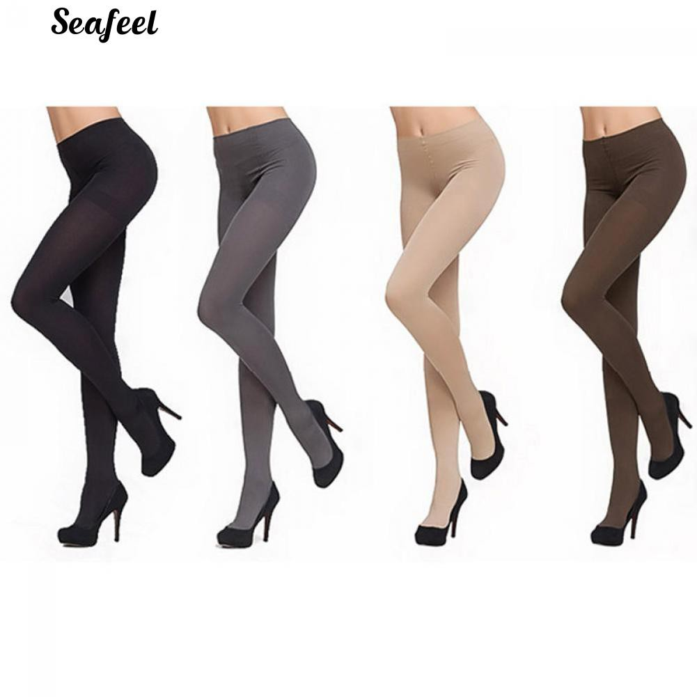 f5d01e83489 Fashion Thick 120D Stockings Pantyhose Tights Opaque Long Footed Socks